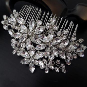 Flora wedding hair comb