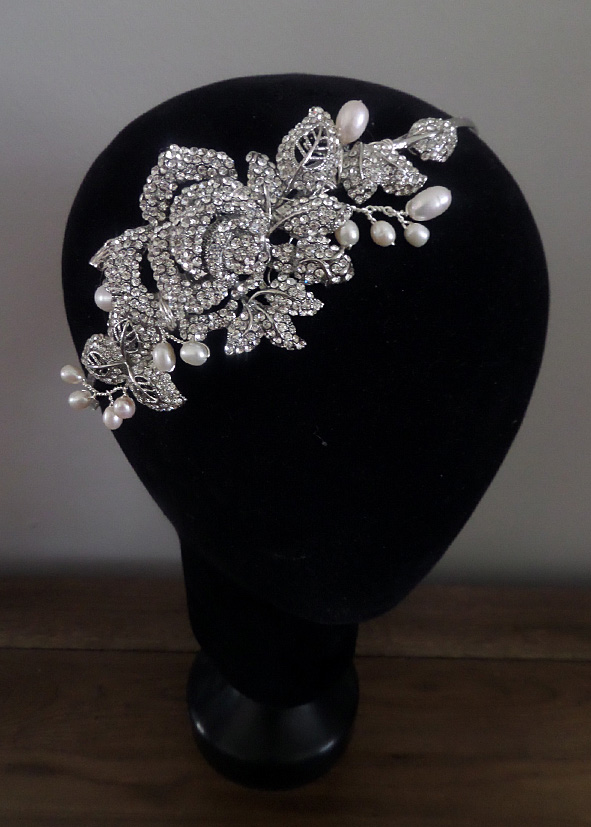 Jo Barnes crystal rose headband