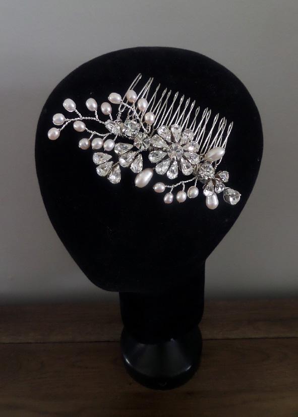 Jo Barnes freshwater pearl hair comb