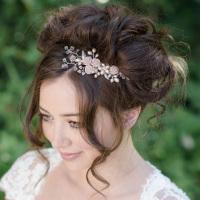 Akina Rose Bridal Hair Comb