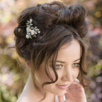 Kamelia Rose Bridal Hair Pins