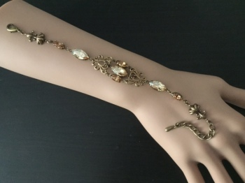 Golden Shadow Wedding Bracelet