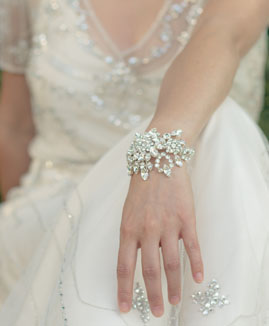 Jo Barnes Hepburn bridal cuff