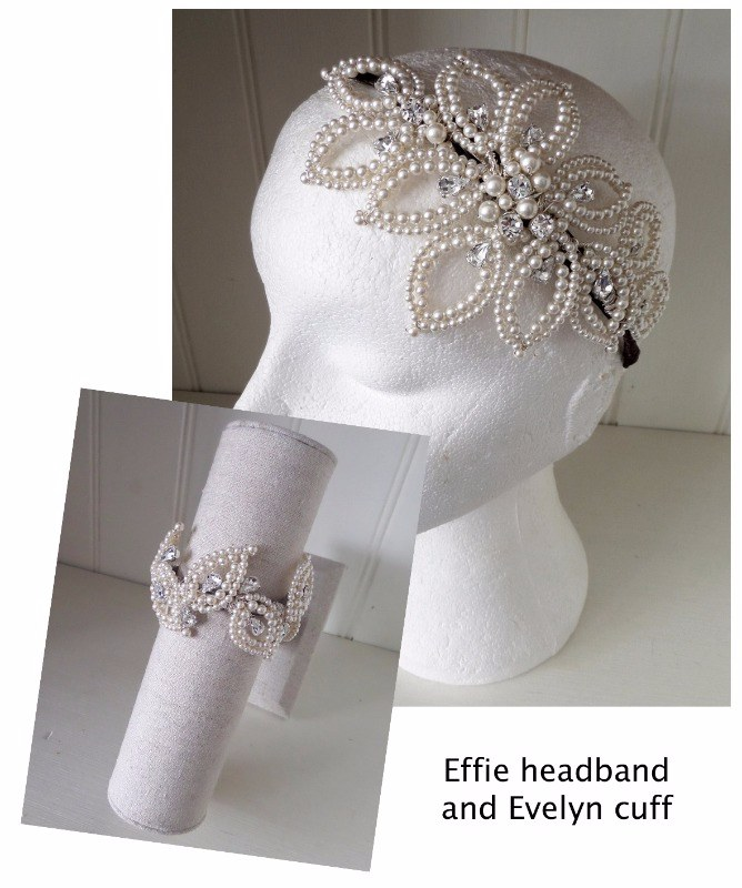 Jo Barnes Effie headband and Evelyn cuff