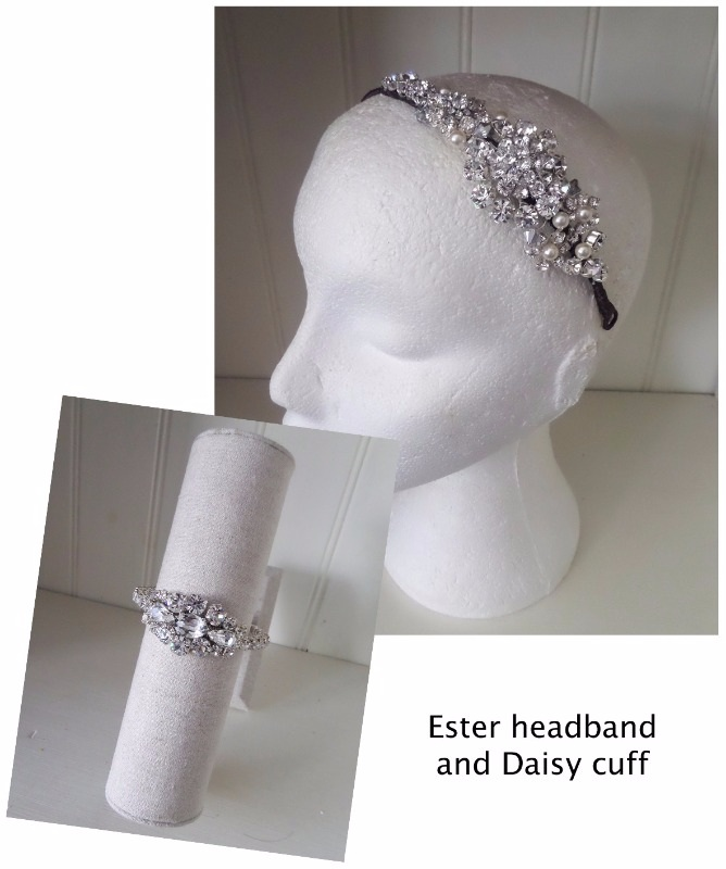 Jo Barnes Ester headband and Daisy cuff