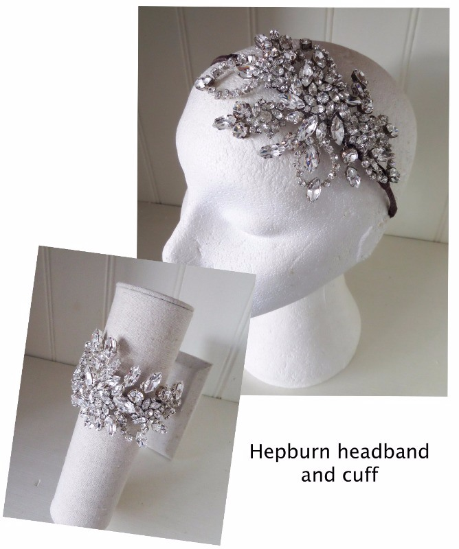 Jo Barns Hepburn headband and matching cuff
