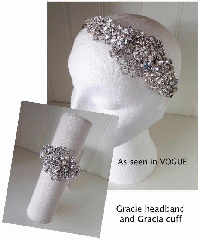 Jo Barnes Gracie headband (Featured in Vogue) and Gracia cuff