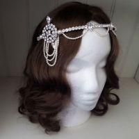 Zelda Bridal Art Deco Forehead Band