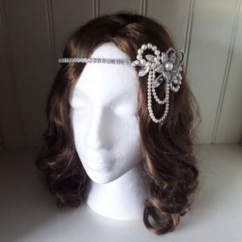 Layla Pearl Side Headpiece