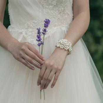 Pearl Bridal Cuff