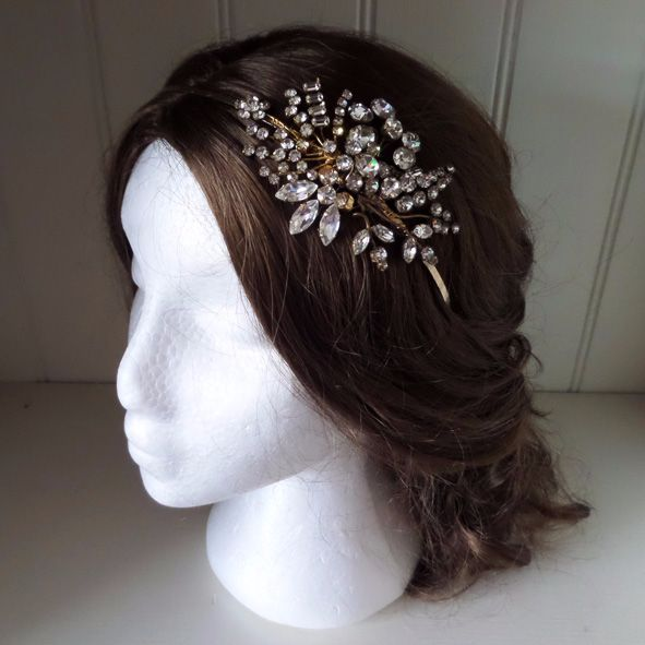 Carmela Vintage Bridal Headdress