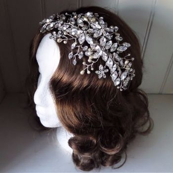 Jo Barnes Charlie statement headpiece