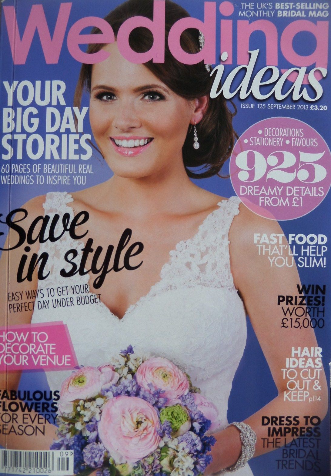 Jo Barnes on front cover of Wedding Ideas