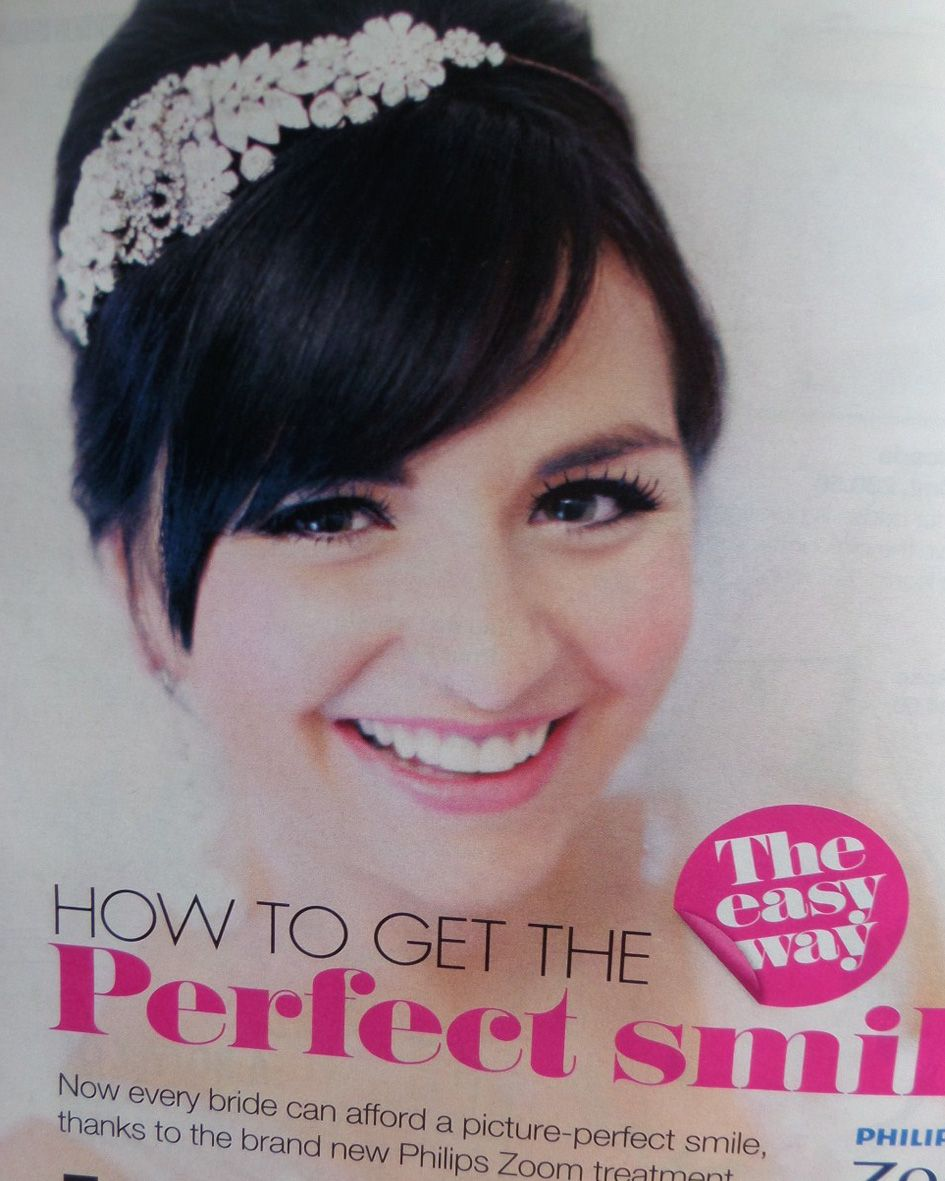 Jo Barnes in Perfect Wedding magazine