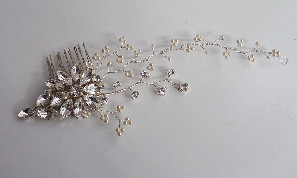 Alyssa bridal hair comb