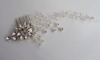 Alyssa bridal hair comb