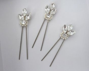 Aster wedding hair pins