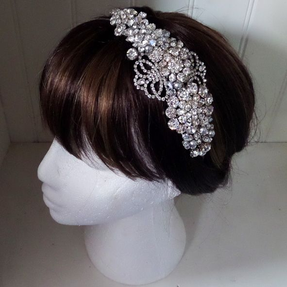 Jo Barnes best selling Gracie headpiece as featured in Vogue magazine