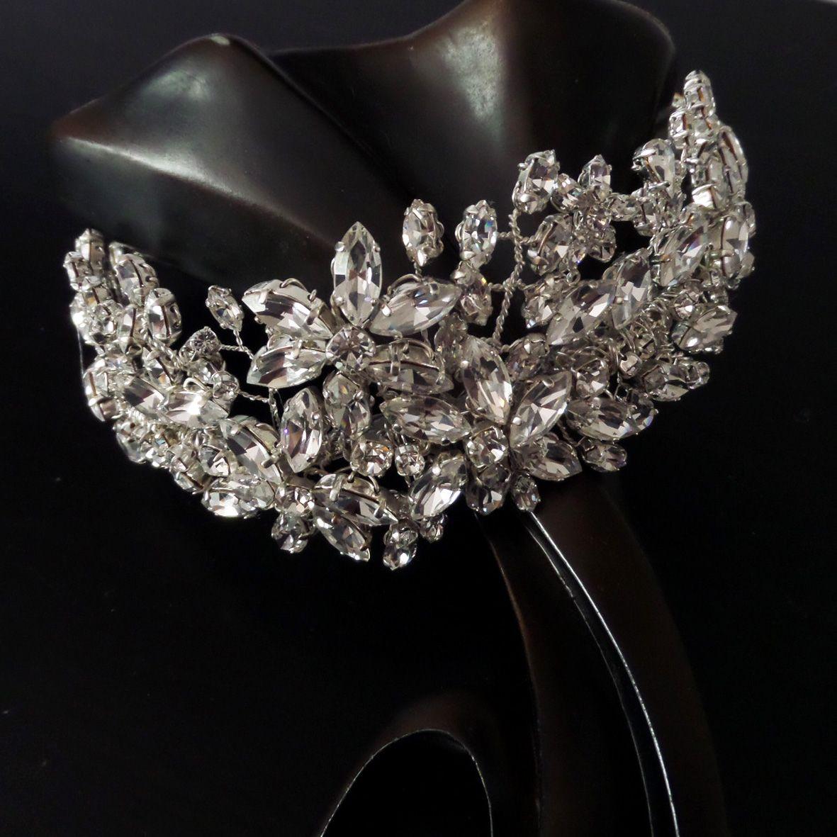 Jo Barnes Flora statement crystal headpiece