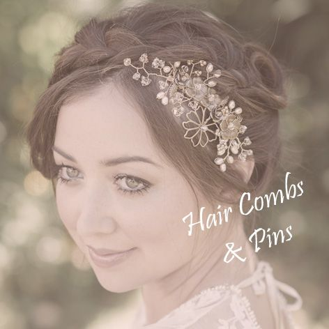 Bridal hair combs and pins