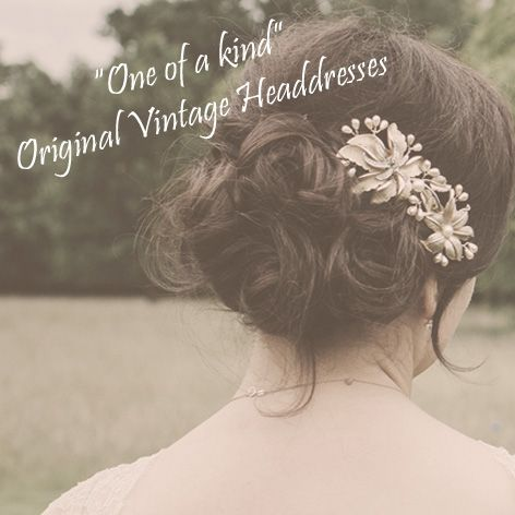 unique original vintage headbands and combs