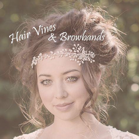 Bridal hair vines and browbands