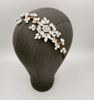 Maggy crystal side headpiece