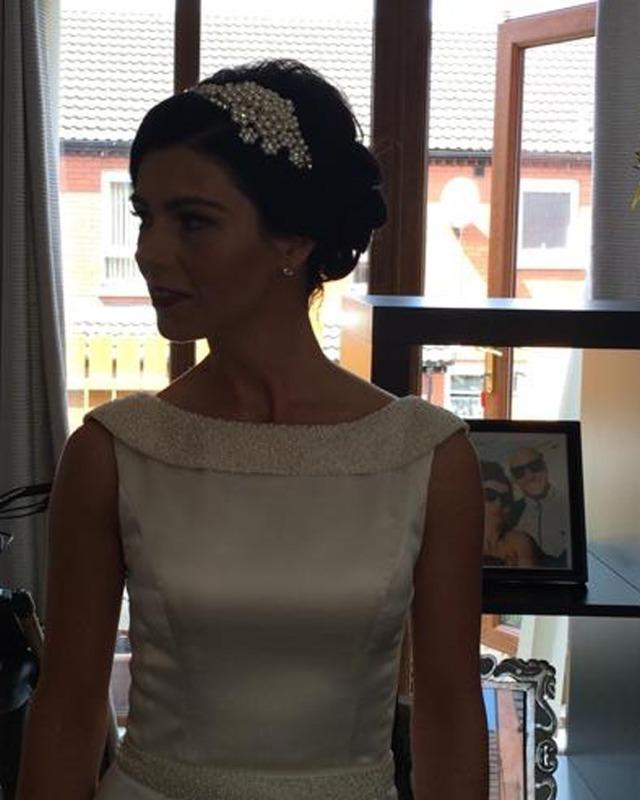 Jo Barnes bride in Pearl