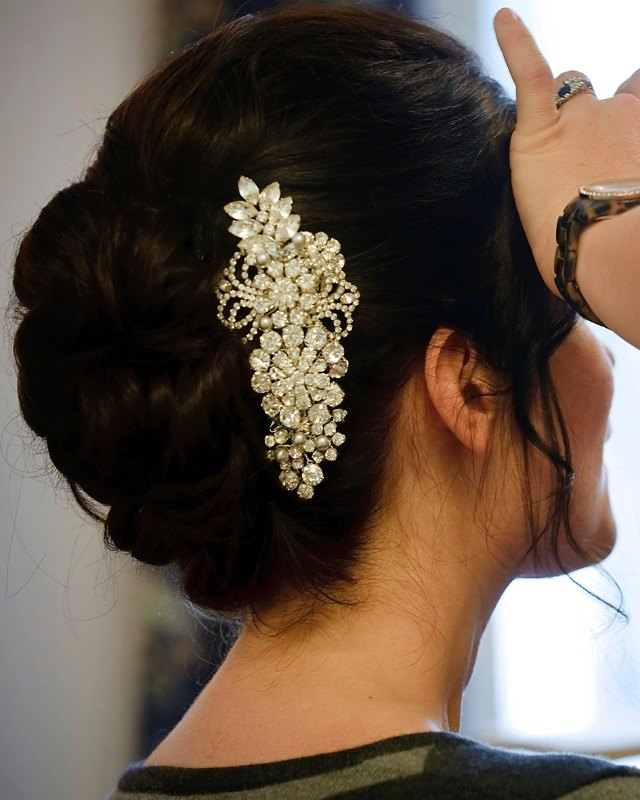 Jo Barnes bride in grace comb