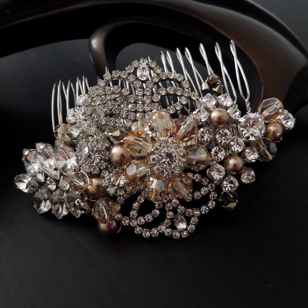 Golden Grace Bridal Hair Comb