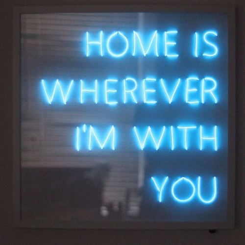HOME IS WHEREVER IM WITH YOU Blue Neon Sign