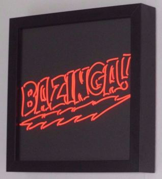 BAZINGA Big Bang Theory Red Neon Sign