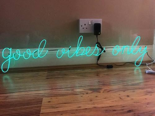Good Vibes Only Acrylic Neon Sign