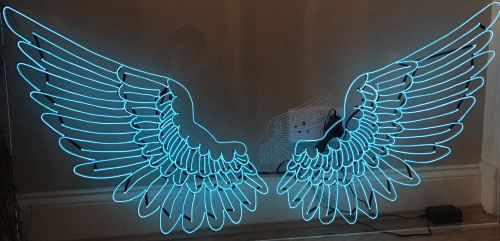 Turquoise Angel Wings