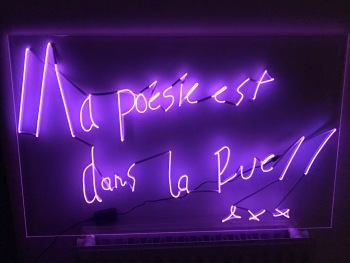 "The 1975 Pink Neon Sign ""la posie dans...."""