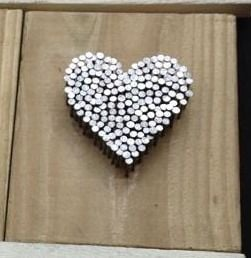 Heart Nail Wall Plaque