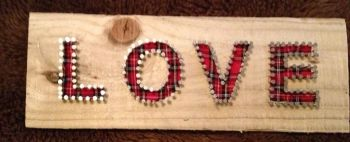 """LOVE"" Tartan Wall Plaque"