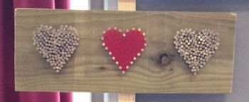 3 Mixed Hearts Wall Plaque