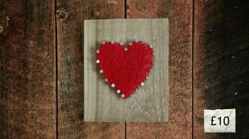 Red Heart Wall Plaque