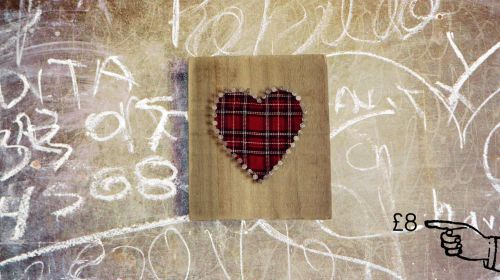 Tartan Heart Wall Plaque