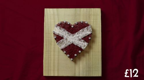Hearts FC Football Wall Plaque