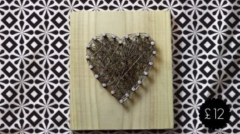 Wire Heart Wall Plaque