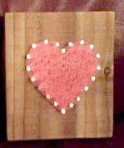 Custom Colour Heart Plaque