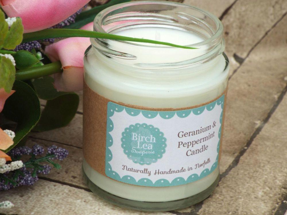 Geranium & Peppermint candle