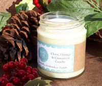 CHRISTMAS CANDLE Clove, Orange & Cinnamon