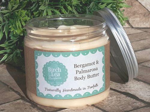Bergamot & Palmarosa body butter large jar