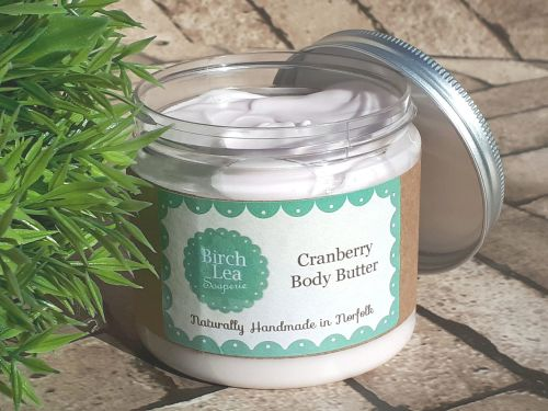 Cranberry body butter large jar
