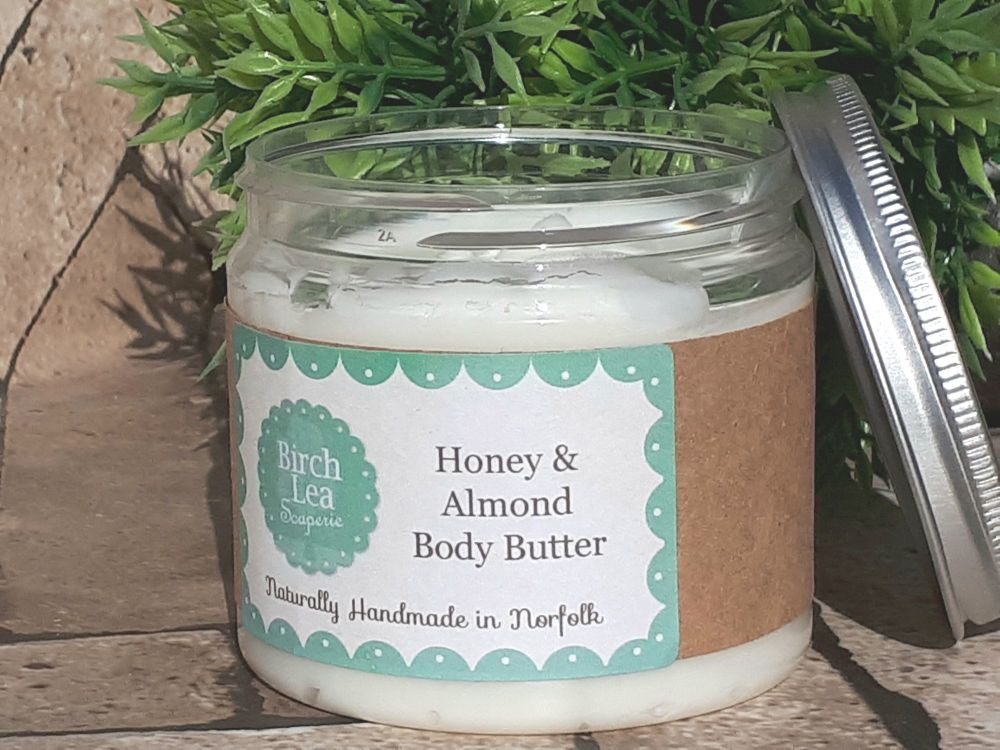 Honey & Almond body butter large jar