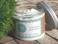 Unscented body butter large jar