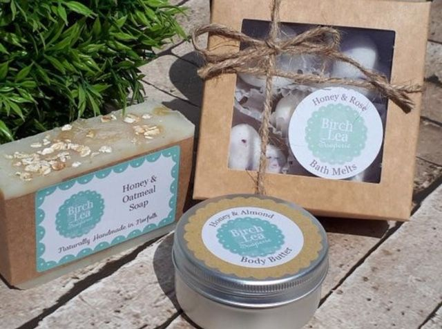 Natural homemade soaps and skin care Norwich Norfolk Birch Lea Soaperie